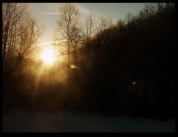 Sunrise in the Mountains by Morna