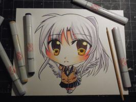 Copic Chibi Kanade by Mireielle