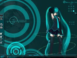 Miku Desktop by yorgash