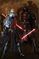 Revan and Malak by theworldjoker