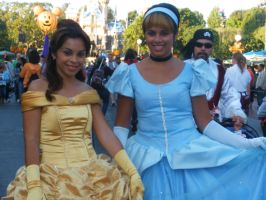 Belle and Cinderella by art-princezz
