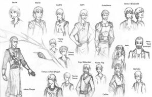 Riftwar Characters by MysticMenace
