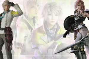 Hope x Lightning Walpaper by XIIIHopeXIII