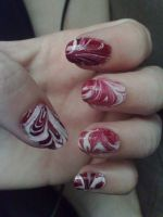 Candy Cane Nails by BiggieShorty