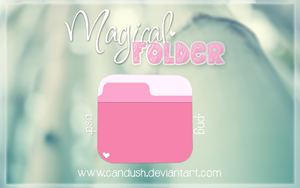 -Magical Folder .psd. by Candush