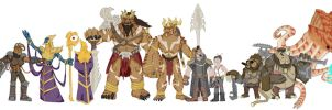 Original Races: Height Chart by Loganius