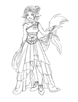 Alana's Dress for Ball by Red-RainGoddess