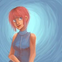 pink haired girl 3.0 by schellibie
