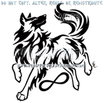 Metis Belgian Tervuren Tribal Design by WildSpiritWolf