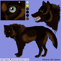 Jason Feral Wolf Form - colour by Kihara-Quagga