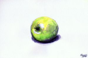 Apple I - Watercolor Study by reeezzz1