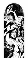Who Do You Love skate deck | black and white by fvallejo