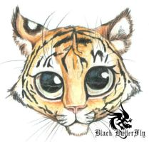 BIG eyed Tiger Cub by Devilsinc53
