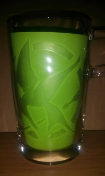 Etched Glass Mugs: The Hunger Games Mockingjay by In54nity