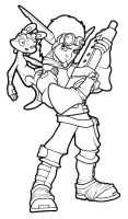 Jak and Daxter_Line Art by fatgurl06