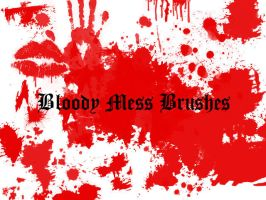 Bloody Mess Brushes by mindless-zombie13