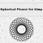Spherical flower brush by Gimp 2.8 by MrBeholder