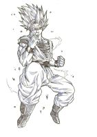 SSJ2 Son Goku by bloodsplach