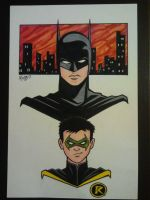 Batman and Robin by RichBernatovech