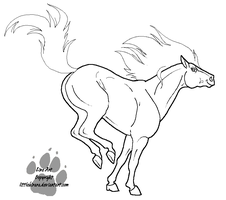 Bucking Line Art by LittleKirara