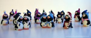 Flock of Penguins by Sya