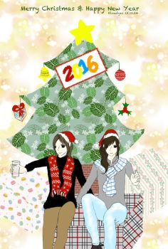 Merry Christmas and Happy New Year 2016 by Kloudyes