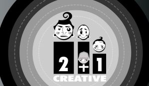 "BW Icon ""2+1 CRIATIVE STUDIO"" by rubenslima"