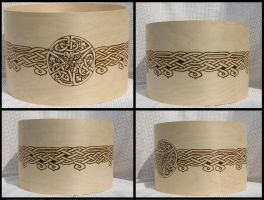 WIP:Custom Knotwork Drum by laurapalmerwashere