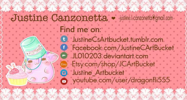 JC art bucket business card by JL010203