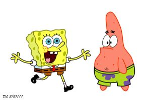 Spongebob and Patrick by DanLeMan14