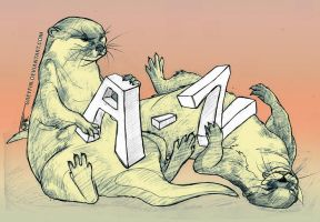 A-to-Z otters by greyfin