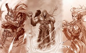 The Three Unknown Horsemen by phanikrishna