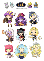 League of Legends Stickers 1 by pixie-wing