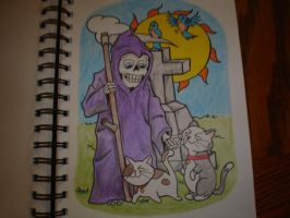 Death and the Kitties by Freddyferd