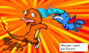 Wooper Used Ice Punch by Sophie-The-Skunk