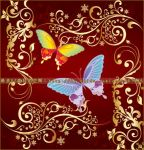 butterfly Flowers vector by coolwing