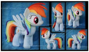 Rainbow Dash Custom Plush by Nazegoreng