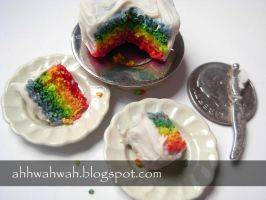 Rainbow Cake I by TheMiniatureBazaar