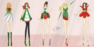 Mario's Fashion Fantasy: Yoshi by wondagirl