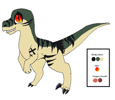 Velociraptor Design Commission by Sliced-Penguin