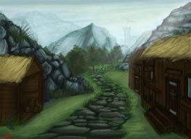 Skyrim Inspired Painting by TheNicerSplicer