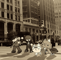 a walk in the city by DeadlyComics