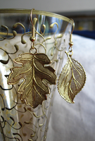 Mismatched Gold Leaf Earrings by mrskupe