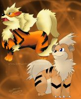 Growlithe Evolution by kariuchiha