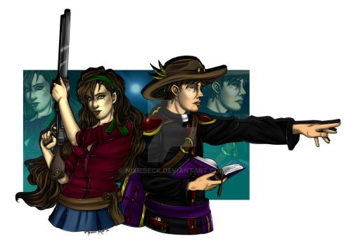 Comission: Ranger Siblings by NixieBeck