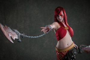 Kratos , Goddess of War --Blades of Chaos by Lisa-Lou-Who