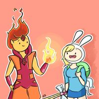 Flame Prince and Fionna by Cami-CB