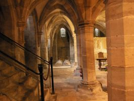 Hereford cathedral crypt by pixini-stock