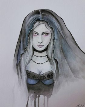 The Girl in Black by Mesha25