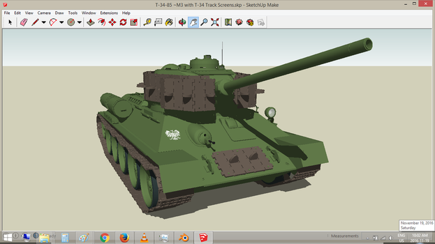 Polish T-34/85M3 with Full Turret Screens by withinamnesia